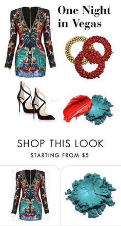 """One Night in Vegas"" by sameskystyle on Polyvore featuring Balmain, Urban Decay, Christian Louboutin and samesky"