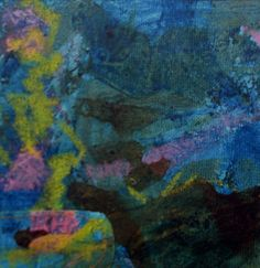 """Maria D'Agrosa-Sweney Underwater collage on canvas 15"""" x 12"""""""