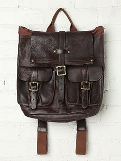 Free People Shiloh Leather Backpack
