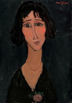 Amedeo Modigliani (1884-1920), Jeune femme à la rose (Margherita), signed 'modigliani' (upper right), oil on canvas, 25 5/8 x 18 1/8 in. (64.9 x 46.1 cm.). Painted in 1916