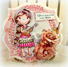 The Paper Nest: Ukulele Ellie scraps2treasure.blogspot.com #copicsketch #spellbinderdies #handamdecards