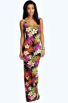 f06dee3da688 Click here to find out about the Tropical Scoop Neck Maxi Dress from Boohoo,  part