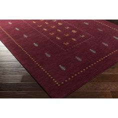 Loon Peak Taylor Cove Hand-Knotted Wool Red/Blue Area Rug Rug Size: Rectangle x Wool Area Rugs, Blue Area Rugs, Wool Rug, Entryway Decor, Wall Decor, Contemporary Area Rugs, Carpet Stains, Accent Furniture, Rug Size