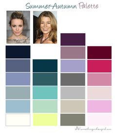 Summer-Autumn, Soft Summer color palette