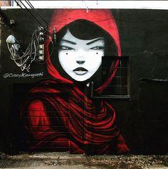 street art Casey Kawaguchi for Crush festival in Denver, Colorado, USA