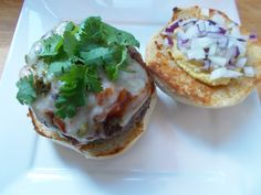 My chili bowl burger was topped with fresh avocado, red and white onion, cilantro, roasted jalapeno, Monterrey Jack cheese, and of course a healthy ladle of smoked bacon chili. #hamburger #ideas #recipe #creative #cooking