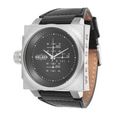 K26 Series Chronograph Watch with Interchangeable Bezels in Black & Steel