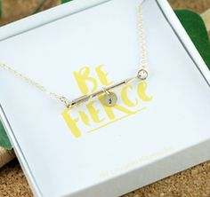 Gold Arrow Necklace, Arrow Necklace with Initials, Personalized Necklace, Be Fierce Necklace, Mom Necklace, Best Friend Necklace
