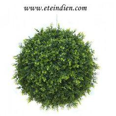 Le buis boule artificiel, une plante artificielle tendance ! - L'été indien