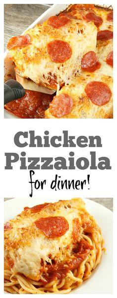 Chicken Pizzaiola:  an easy, family friendly dinner recipe!