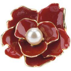 KENNETH JAY LANE VINTAGE flower ring ($290) ❤ liked on Polyvore