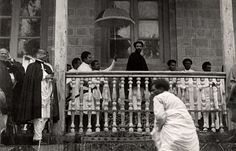 Frost House, Empire of Abyssinia (Ethiopia).  The arrival of the Negus of Abyssinia (Ethiopia) Haile Selassie on the feast of St. Maryam.  Addis Ababa, Abyssinia (Ethiopia), date unknown.