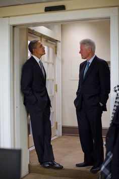 President Barack Obama and Bill Clinton