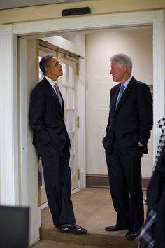 President Barack Obama and Bill Clinton