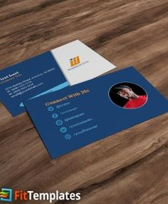 Health club business card template with social media icons and health club business card template by fittemplates reheart Images