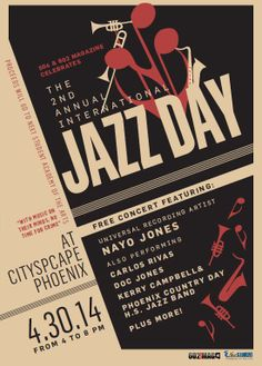 Celebrate the 2nd Annual International Jazz Day with us!