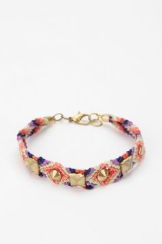 So cute.  GREAT idea!  Studded friendship bracelet from Urban Outfitters.