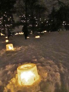 Perfect proposal. In the middle of the woods after a snowfall with tons and tons of candles.