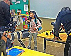 Baby Kaely filming Heaven