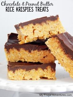 Chocolate and Peanut Butter Rice Krispies Treats