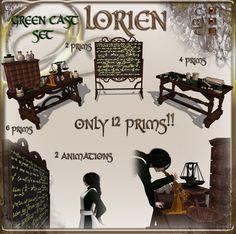 LORIEN GREEN CASTE SET (12 PRIMS)