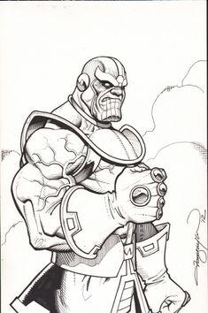Thanos Comic Art