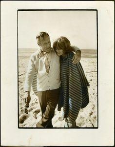 With William Holden before shooting Damien: Omen II in Malibu, 1978.