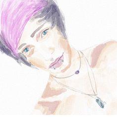 By @goingpandas on iPad using Auryn Ink #aurynink #watercolor...