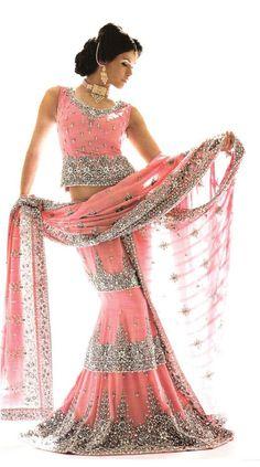 Lengha #indian #bridal Like us on https://www.facebook.com/beautagonal?ref=tn_tnmn