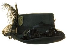 Ladies Womens Black Victorian Deluxe Top Hat With Steampunk Goggles Costume 51eb2da006fb