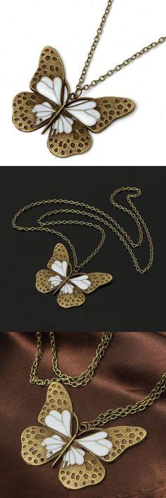Vintage bronze butterfly pendant long chain necklace women jewelry necklace pendants for engraving #jewelry #necklaces #pendants #jewelry #pendants #suppliers #necklace #interchangeable #pendants #necklace #pendants #for #new #mothers