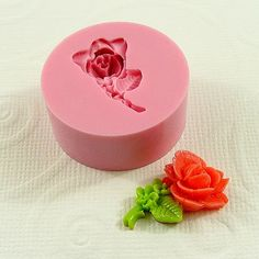 Stemmed Rose Flexible Silicone Mold/Mould 23mm for by MoldMuse