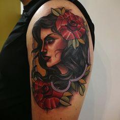 By Abel Sanchez at Red Dagger Tattoo Studio in Houston, TX.