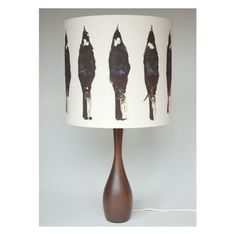 DEAD SET TUI LIGHT SHADE - digitally printed lampshade on hemp/organic cotton by Genevieve Packer