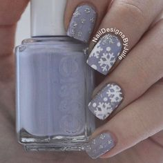 Create a winter snowflake nail design with these Snowflake Nail Decals. Two designs for 60 Snowflake Nail Stickers total. Can use as Snowflake Nail Stencils. Crazy Nails, Love Nails, How To Do Nails, Pretty Nails, Fun Nails, Winter Nail Designs, Winter Nail Art, Cute Nail Designs, Winter Nails