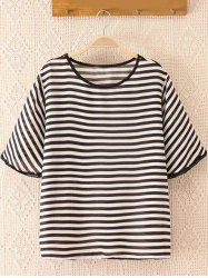 SHARE & Get it FREE | Oversized Casual Striped Loose Fitting T-Shirt For WomenFor Fashion Lovers only:80,000+ Items • New Arrivals Daily • Affordable Casual to Chic for Every Occasion Join Sammydress: Get YOUR $50 NOW!