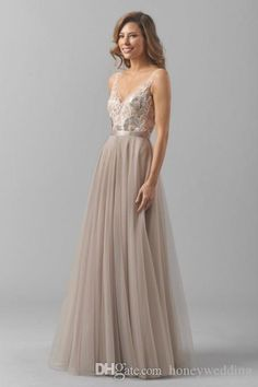 Buy wholesale gray bridesmaid dresses,pastel bridesmaid dresses along with bridesmaid dresses cheap on DHgate.com and the particular good one- fashion backless long beach glitter bridesmaid dresses 2016 vintage lace appliques sequin bridesmaids wedding party dress gowns cheap is recommended by honeywedding at a discount.
