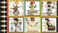 Isn't this a fun 'She Who Sews' panel from Janet Wecker Frisch (available through Quilting Treasures). I love the the steam punk look and her 'Handmaids' creative ladies.  http://www.quiltingtreasures.com/content17411.html