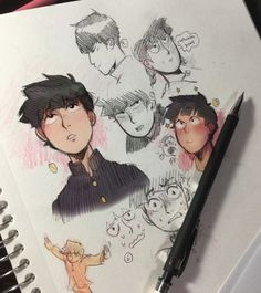 "chocozebra: ""I love mob guys "" Manga, Mob Psycho 100 Anime, Character Art, Character Design, Mob Physco 100, Arte Sketchbook, Demon Slayer, Drawing Reference, Art Sketches"