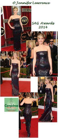 CLAUDINEIA ANTUNES: Jennifer Lawrence Vestido Dior em SAG Awards