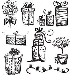 Doodle presents vector - by kamenuka on VectorStock®