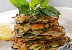 Looking for a tasty vegetarian friendly dish? Try these Courgette, Haloumi and Basil Fritters - yum!