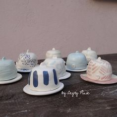 Mini butter dishes, on sale in amsterdam soon by Angry Pixie angrypixie.co