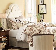 "Love the chocolate brown color scheme. I need those ""Sweet Dreams"" pillows for our bed!"