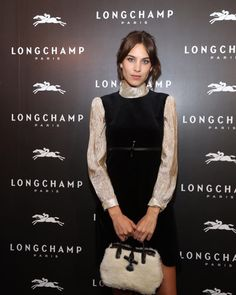 "chungit-up: "" Alexa Chung at the opening of Longchamp flagship store at EmQuartier, Thailand Alexa Chung 2016, Alexa Chung Style, Celebrity Outfits, Celebrity Style, Girl Fashion, Womens Fashion, Ladies Fashion, Geek Chic, Simple Dresses"
