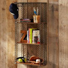 Industrial Metal Shelf at PBTeen, $159, also awesome.