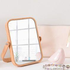 Imitation wood plastic table mirror SCANDINAVIAN