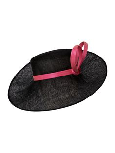 1bdc8d2ae81 Phillip Treacy Large sidebrim hat with buntal bow