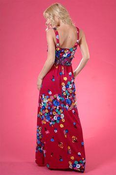 #Pretty floral maxi!  Fringe Dress #2dayslook #FringeDress  #susan257892 #watsonlucy723  www.2dayslook.com