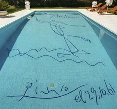 Picasso in a pool? Picasso painted this pool for his flamenco dancer friend, Antonio el Bailarin, in 1961. If you buy this Pablo Picasso painting, you get a beachfront mansion for free!